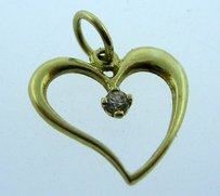 Other 14k Yellow Gold Heart Pendant Charm Necklace Love