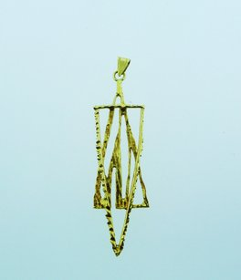 Other 14k Yellow Gold Nugget Style Jewish Star Pendant Charm