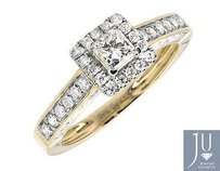 Other 14k Yellow Gold Square Halo Princess Solitaire Diamond Engagement Ring 1.0ct