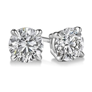 Other 1.75 Carrat 4 Prong Diamond Stud Earrings