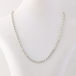 18 Rope Chain Necklace - Sterling Silver 925 Italian Jewelry Lobster Clasp