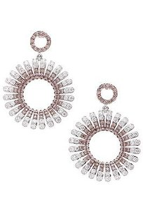 Other 18k White Gold Diamond Round Drop Earrings