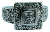 Other 18k White Gold Princess Cut Invisible Set Diamonds Ladies Ring