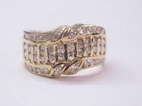 Other 18kt Designer Round Cut Diamond Ring Yg .84ct