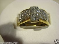 18kt Yellow Gold Diamond Engagement Ring Wedding Band Princess Cut 4.00cts.