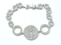 Other 18kt Circular Diamond White Gold Tennis Bracelet 2.26ct 7 G-h Vs2-si1