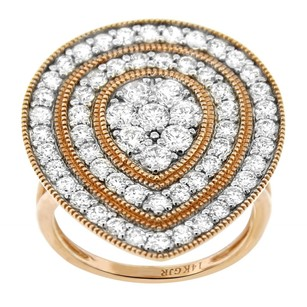 Other 1.97ct Diamond 14k Rose Gold Tear Drop Ring 5-8