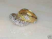 2 Angela Cummings Tiffany Co. 18kt Gold Diamond Eternity Wedding Band Rings