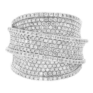 Other 2.30ct Diamond 14k White Gold Three Tier Ring 4-10
