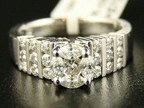 14k Ladies Round Bridal Engagement Diamond Ring 1.20ct