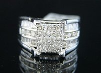 14k Ladies Cut Princess Bridal Engagement Diamond Ring