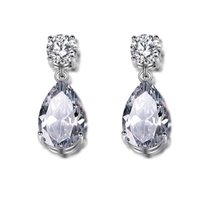 Other 2.5ct pear shaped AAA tear drop earrings in