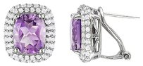 Sterling Silver 6 13 Ct Tgw Amethyst White Topaz Ear Pin Earrings