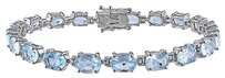 Other Sterling Silver 19 Ct Sky Blue Topaz Bracelet 7.25 Inches