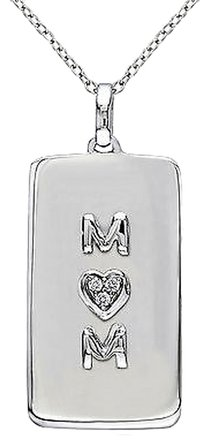 Other Sterling Silver Diamond Heart Love Mom Fashion Pendant Necklace Gh I1i2