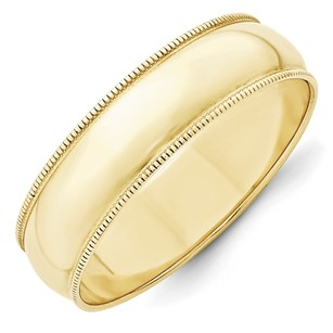 Other 6mm 10k Yellow Gold Standard Fit Milgrain Edge Wedding Ring Band 6-13