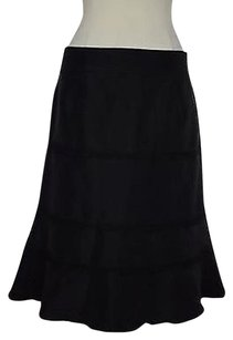 Other Nabi Womens Solid Below Knee 100 Polyester Skirt Black