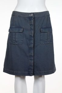 Madras Womens Skirt Blue