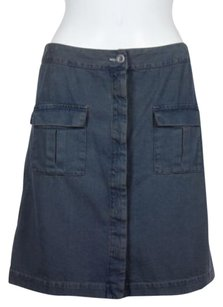 Other Madras Womens Above Knee Mini Skirt Blue