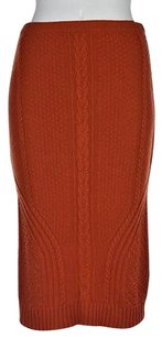 Other Sparrow Womens Knit Below Knee Skirt Orange