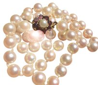 Other AKOYA 7/8mm Estate Sea Pearls Garnets & gold