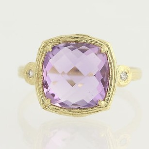 Other Amethyst Diamond Ring - 14k Yellow Gold February Birthstone 3.32ctw