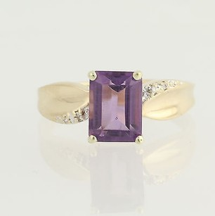 Other Amethyst Diamond Ring - 14k Yellow White Gold February 1.72ctw