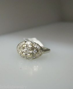 Antique 14k White Gold Diamonds Ladies Ring