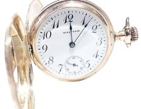 Other Antique 14kt Yellow Gold Waltham Pocket Watch