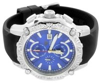 Aqua Master Joe Rodeo Watch Jojinio Style Stainless Steel Rubber Strap Blue Dial