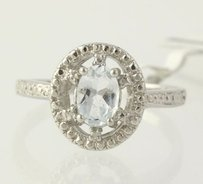 Aquamarine Cocktail Ring - 925 Sterling Silver Womens Chunky 0.61ctw