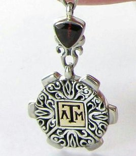 Arista P-11a Texas Am University Aggies Charm Enhancer Garnet 925 18k Yg