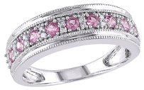 Other 10k White Gold 110 Ct Diamond 38 Ct Tgw Pink Sapphire Fashion Ring Gh I1-i2