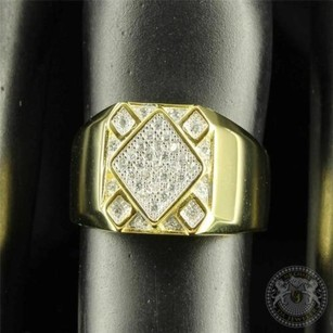 Persian Style Micro Pave Kite Design Gold Finished Silver Fashion Ring For Men
