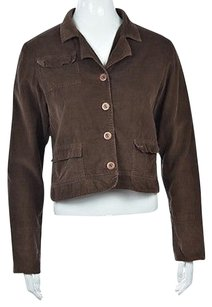 Solitaire Womens Basic Brown Jacket