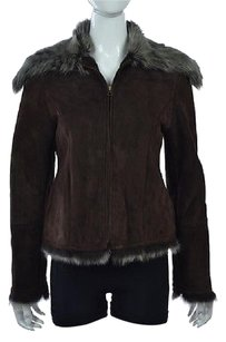 Viaveneto Womens Brown Basic Multi-Color Jacket