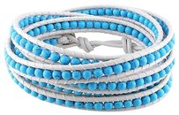 Sterling Silver Stacked Turquoise And White Bracelet 39