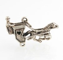 Other Beau Stagecoach Charm - Sterling Silver 925 Vintage Horse Carriage Jewelry