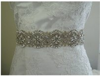 Beautiful Sash Color Ivory 2 Inches Wide By 18 Inches Beaded The Ribbon Is 3 Yards Long