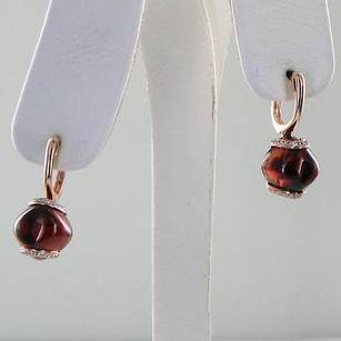 Other Bellarri Earrings Visions 0.27cts Diamonds 14.7cts Garnets 14k R Gold