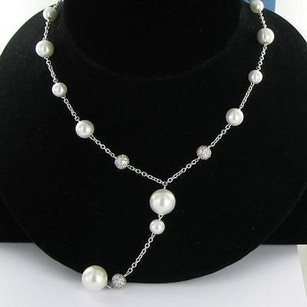Belle Etoile Luxury Drop Necklace 925 Seashell Pearl Cubic Zirconia