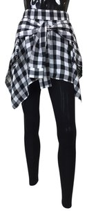 Other Checkered Skirt Pants black, white Leggings