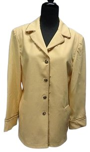 St John Sport Yellow Long Sleeved Embellished Button Down Blazer P Sma10026