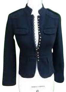 J.Crew Studs Military Wool Black Blazer