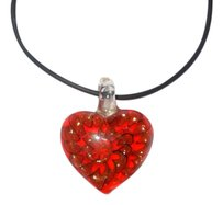 Other Blown Glass Heart Necklace