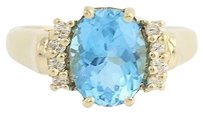 Other Blue Topaz Diamond Ring - 14k Yellow Gold 12 Womens 2.62ctw