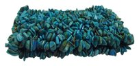 Blue Turquoise Stretch Chip Bracelet size 7 inch
