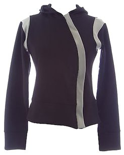 Body Up By Be Up Womens Blackgrey Diagonal Zip Athletic Jacket