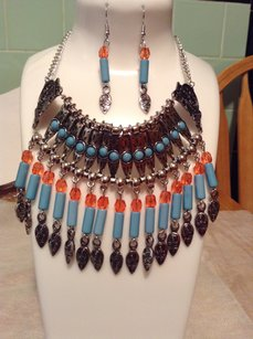 Other Bohemian Style Turquoise Necklace set