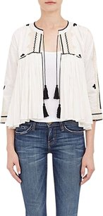 Other Ulla Johnson Soledad Natural Embroidered Gauze Babydoll White Jacket